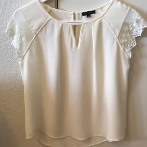 XS Cream Color Papermoon Top